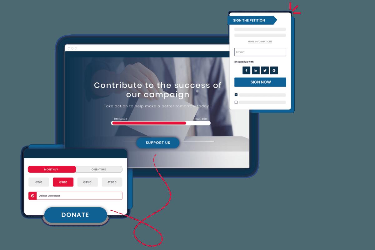 Piattaforma di digital fundraising per la politica